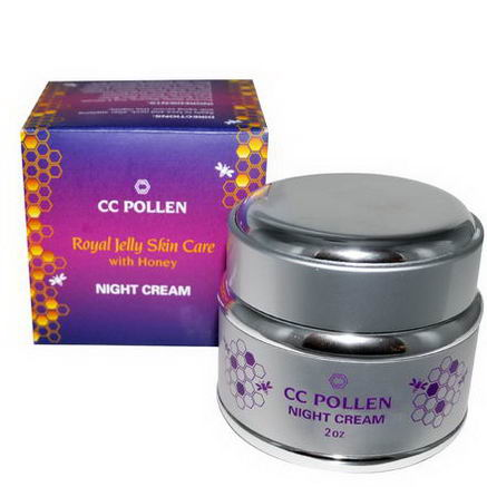 C. C. Pollen, Royal Jelly Skin Care with Honey, Night Cream, 2oz