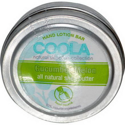 COOLA Organic Suncare Collection, Hand Lotion Bar, Cucumber Melon, 50oz