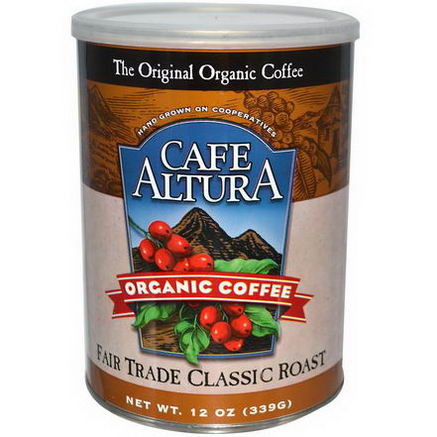 Cafe Altura, Organic Coffee, Fair Trade Classic Roast, 12oz (339g)