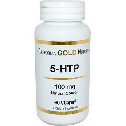 California Gold Nutrition, 5-HTP, 100mg, 60 VCaps