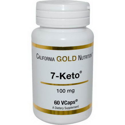 California Gold Nutrition, 7 Keto, 100mg, 60 VCaps