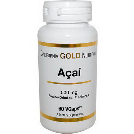 California Gold Nutrition, Acai, 500mg, 60 VCaps