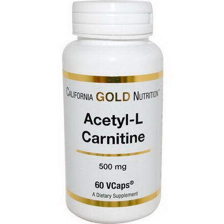 California Gold Nutrition, Acetyl L-Carnitine, 500mg, 60 VCaps