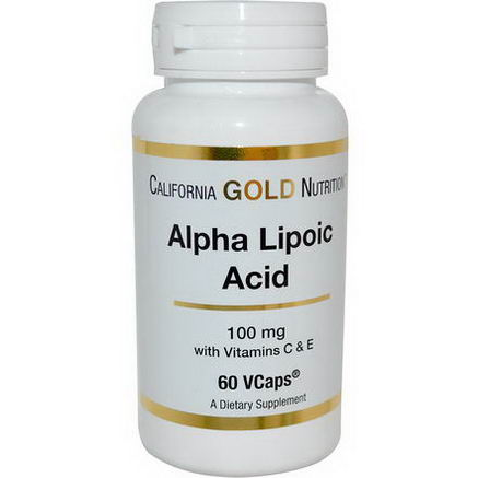 California Gold Nutrition, Alpha Lipoic Acid, 100mg, 60 VCaps