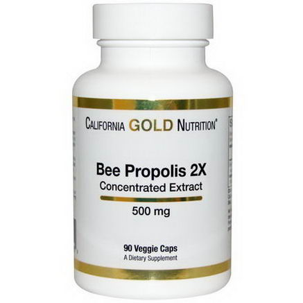 California Gold Nutrition, Bee Propolis 2X, 500mg, 90 Veggie Caps
