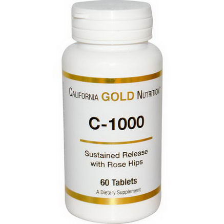 California Gold Nutrition, C-1000, Sustained Release with Rose Hips, 60 Tablets