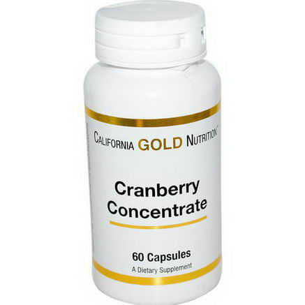 California Gold Nutrition, Cranberry Concentrate, 60 Capsules