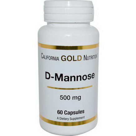 California Gold Nutrition, D-Mannose, 500mg, 60 Capsules