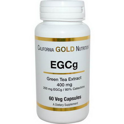 California Gold Nutrition, EGCg, Green Tea Extract, 400mg, 60 Veggie Caps