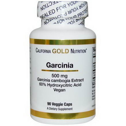 California Gold Nutrition, Garcinia Cambogia, 500mg, 90 Veggie Caps