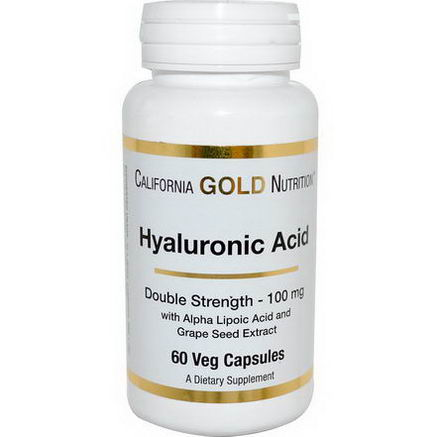 California Gold Nutrition, Hyaluronic Acid, 100mg, 60 Veggie Caps