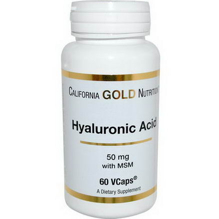 California Gold Nutrition, Hyaluronic Acid, with MSM, 50mg, 60 VCaps