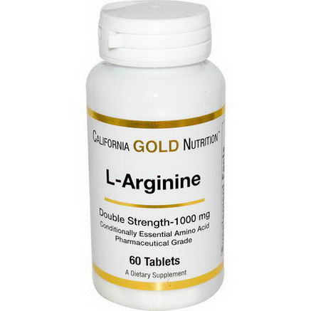 California Gold Nutrition, L- Arginine, 1000mg, 60 Tablets