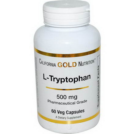 California Gold Nutrition, L-Tryptophan, 500mg, 60 Veggie Caps