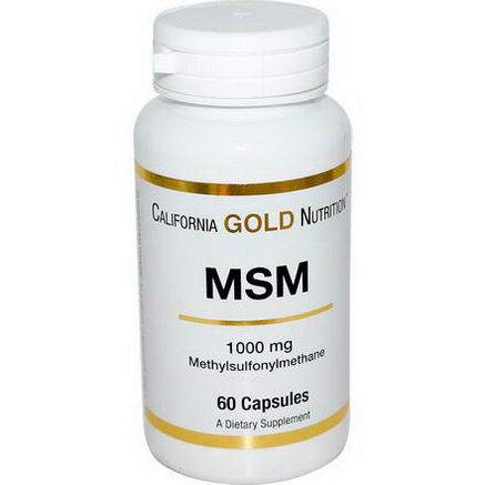 California Gold Nutrition, MSM, 1000mg, 60 Capsules