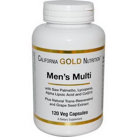 California Gold Nutrition, Men's Multi, 120 Veggie Caps