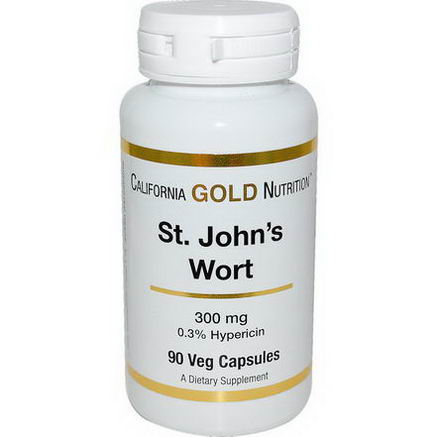 California Gold Nutrition, St. John's Wort, 300mg, 90 Veggie Caps