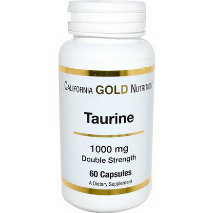 California Gold Nutrition, Taurine, 1000mg, 60 Capsules
