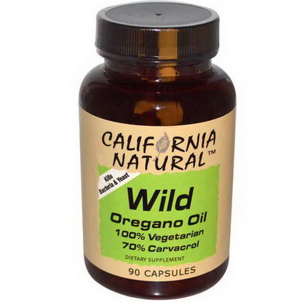 California Natural, Wild Oregano Oil, 90 Capsules