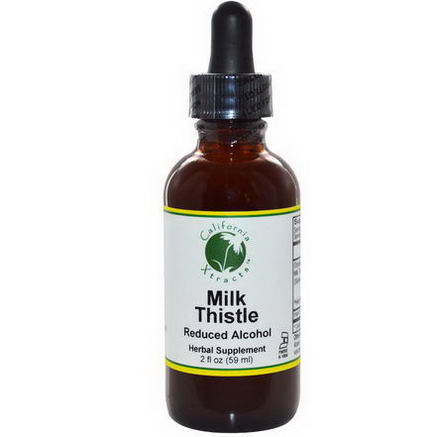 California Xtracts, Milk Thistle, Reduced Alcohol, 2 fl oz (59 ml)