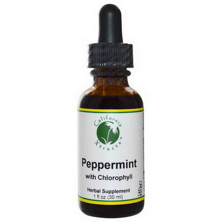 California Xtracts, Peppermint with Chlorophyll, 1 fl oz (30 ml)