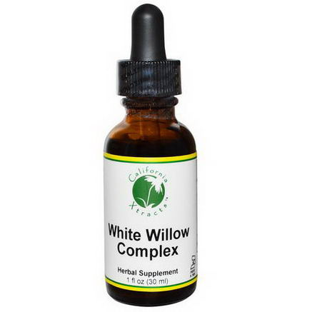 California Xtracts, White Willow Complex, Pain Formula, 1 fl oz (30 ml)
