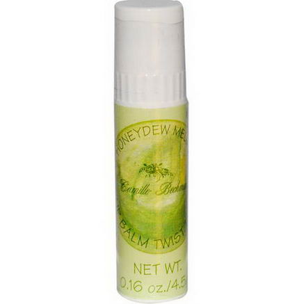 Camille Beckman, Lip Balm Twist Tube, Honeydew Melon, 0.16oz (4.5g)