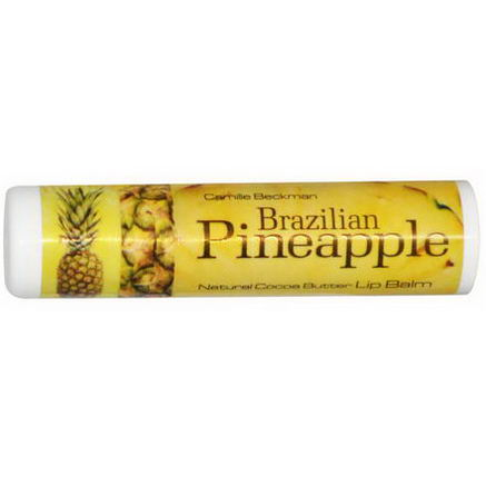 Camille Beckman, Natural Cocoa Butter Lip Balm, Brazilian Pineapple, 25oz (7g)