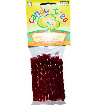 Candy Tree, Organic Raspberry Twists, 2.6oz (75g)