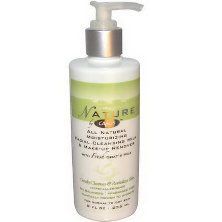 Canus, All Natural Moisturizing Facial Cleansing Milk & Make-Up Remover, 8 fl oz (235 ml)