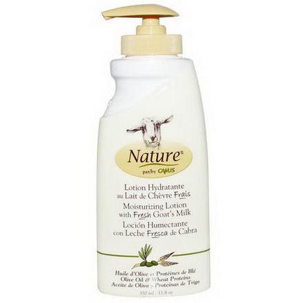 Canus, Nature, Moisturizing Lotion with Fresh Goat's Milk, Olive Oil & Wheat Proteins, 11.8oz (350 ml)