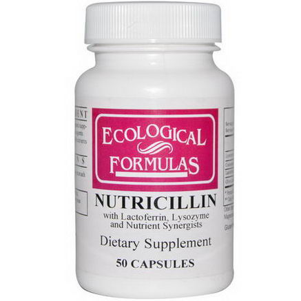 Cardiovascular Research Ltd. Ecological Formulas, Nutricillin, 50 Capsules