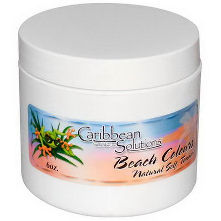 Caribbean Solutions, Beach Colours, Natural Self Tanner, 6oz