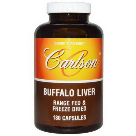 Carlson Labs, Buffalo Liver, 180 Capsules
