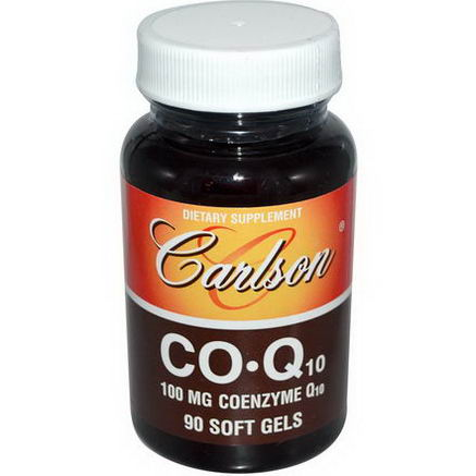 Carlson Labs, CO Q10, 100mg, 90 Soft Gels