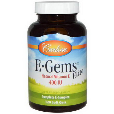 Carlson Labs, EGems Elite, 400 IU, 120 Soft Gels