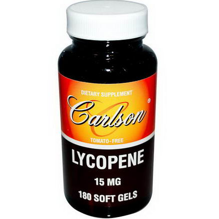 Carlson Labs, Lycopene, 15mg, 180 Soft Gels