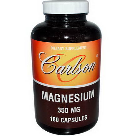 Carlson Labs, Magnesium, 350mg, 180 Capsules