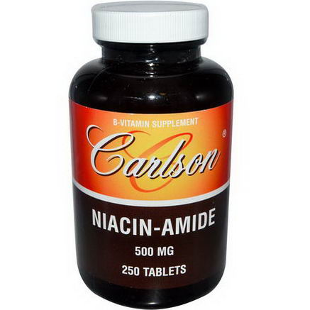 Carlson Labs, Niacin-Amide, 500mg, 250 Tablets