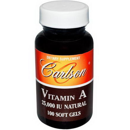 Carlson Labs, Vitamin A, 25, 000 IU, Natural, 100 Soft Gels