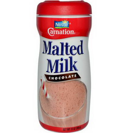 Carnation Milk, Malted Milk, Chocolate, 13oz (368g)