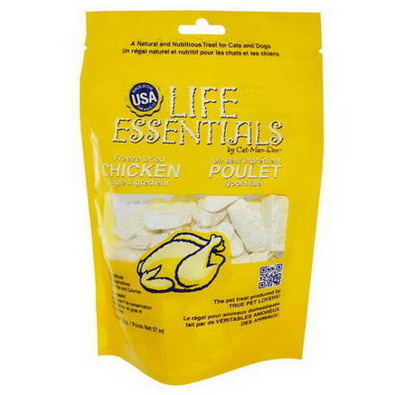 Cat-Man-Doo, Life Essentials, Freeze Dried Chicken for Cats & Dogs, 2oz (57g)