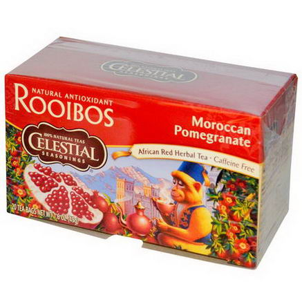 Celestial Seasonings, African Red Herbal Tea, Moroccan Pomegranate, Caffeine Free, 20 Bags, 1.6oz (45g)