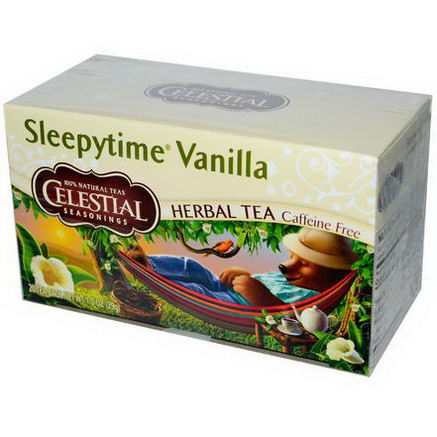 Celestial Seasonings, Herbal Tea, Sleepytime Vanilla, Caffeine Free, 20 Tea Bags, 1.0oz (29g)
