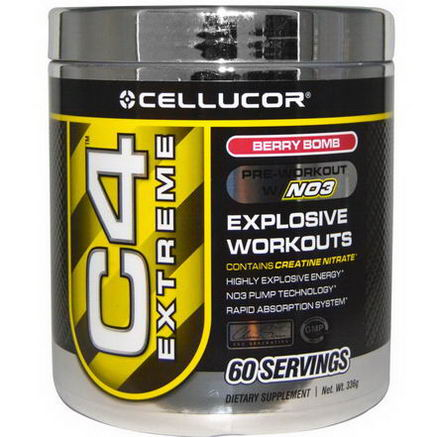 Cellucor, C4 Extreme, Pre-Workout w/N03, Berry Bomb, 336g