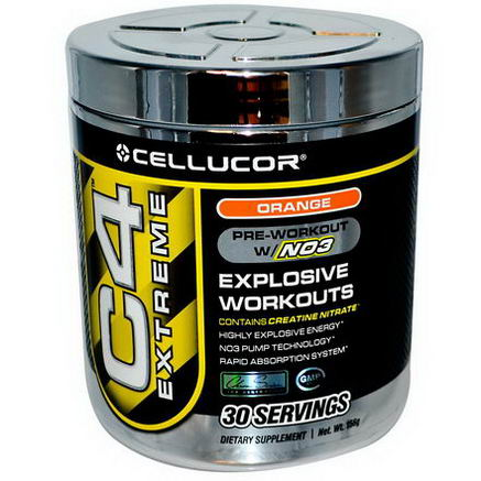 Cellucor, C4 Extreme, Pre-Workout w/NO3, Orange, 156g