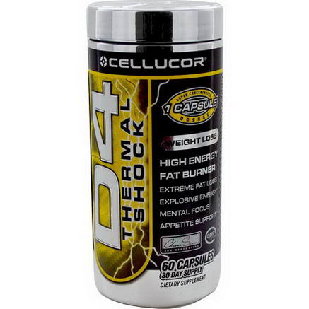 Cellucor, D4 Thermal Shock, 60 Capsules