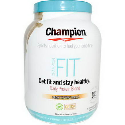Champion Naturals, Fit, Daily Protein Blend, Great Tasting Vanilla, 24oz (707g)