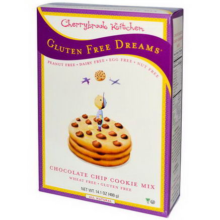 Cherrybrook Kitchen, Gluten Free Dreams, Chocolate Chip Cookie Mix, 14.1oz (400g)