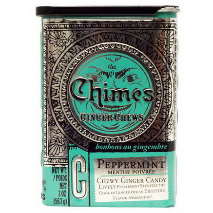 Chimes, Ginger Chews, Peppermint, 2oz (56.7g)